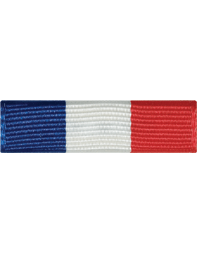 ROTC Ribbon (RC-R710) ROTC Royal Blue White and Red (L-10)