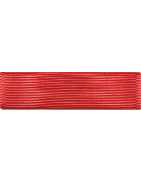 ROTC Ribbon (RC-R712) Drill Team Red (L-12)