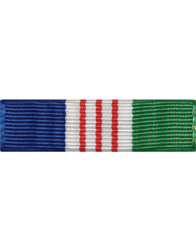 ROTC Ribbon (RC-R716) Parade Blue White Red and Green (L-16)