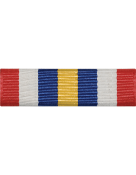 ROTC Ribbon (RC-R717) Leadership Training Summer Blue and White (L-17)
