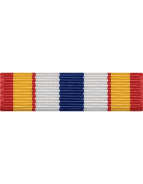 ROTC Ribbon (RC-R726) Award Red Yellow White and Blue (L-26)