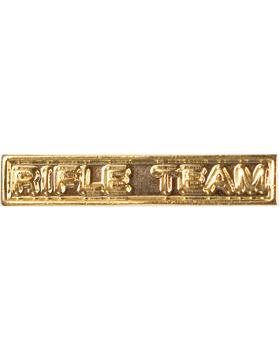 ROTC Ribbon Device (RC-RD207) Rifle Team Gold small