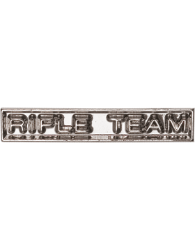 ROTC Ribbon Device (RC-RD208) Rifle Team Silver