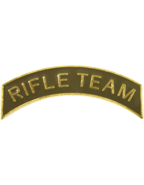 ROTC Metal Arc Tab RIFLE TEAM