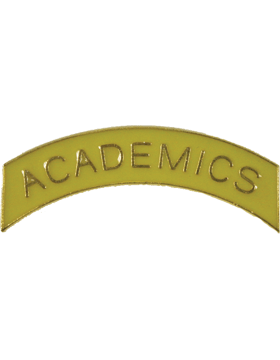 ROTC Tab (RC-T103) Academics Yellow with Gold Letters