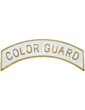ROTC Tab (RC-T104) Color Guard White with Gold Letters
