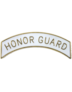ROTC Tab (RC-T105A) Honor Guard White with Gold Letters
