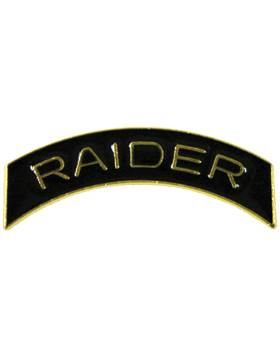 ROTC Tab (RC-T106) Raider Black with Gold Letters