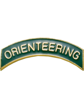 ROTC Tab (RC-T107) Orienteering Green with Gold Letters