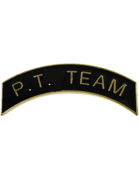 ROTC Tab (RC-T108) P.T. Team Black with Gold Letters