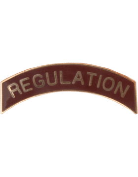 ROTC Tab (RC-T111) Regulation Burgandy with Gold Letters
