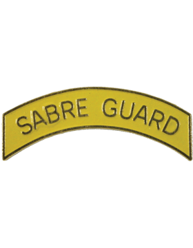 ROTC Tab (RC-T112) Sabre Guard Yellow with Gold Letters