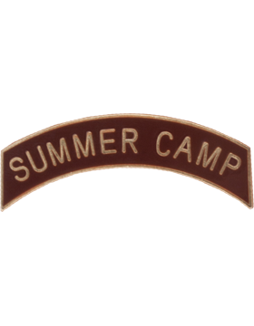 ROTC Tab (RC-T113) Summer Camp Brown with Gold Letters