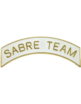 ROTC Tab (RC-T114) Sabre Team White with Gold Letters