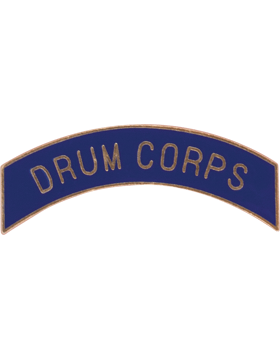 ROTC Tab (RC-T116) Drum Corps Royal Blue with Gold Letters
