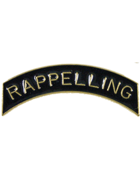 ROTC Tab (RC-T117) Rappelling Black with Gold Letters