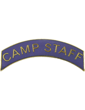 ROTC Tab (RC-T118) Camp Staff Purple with Gold Letters