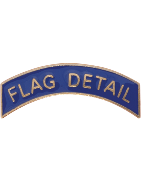 ROTC Metal Arc Tab FLAG DETAIL