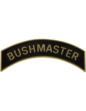 ROTC Tab (RC-T122) Buschmaster Black with Gold Letters
