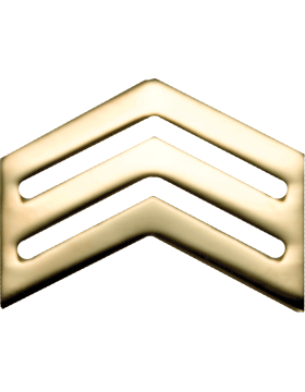 No-Shine Army ROTC Rank (RC-104) Sergeant