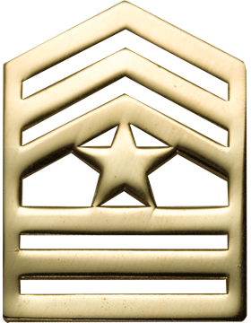 No-Shine Army ROTC Rank (RC-109) Sergeant Major