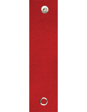 Felt Leadership Tab (RC-203A) Red with Snaps (543)