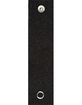 RC-209A, Black Felt Leadership Tab with Snaps (4093)