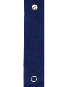 RC-210A, Royal Blue Felt Leadership Tab with Snaps (395)