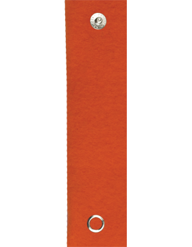 RC-211A, Tangerine Orange Felt Leadership Tab with Snaps (3161)