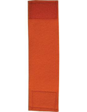 Felt Leadership Tab (RC-211) Tangerine Orange with Fastener (3161)