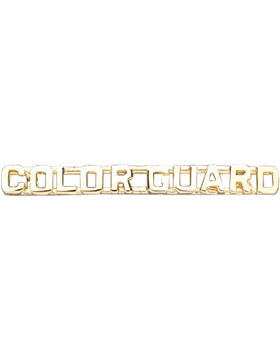 Color Guard Collar Insignia Letters