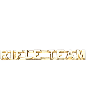 Rifle Team Collar Insignia Letters