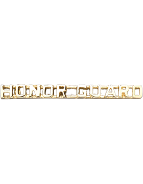 Honor Guard Collar Insignia Letters