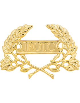 Army JROTC Cap Device with Letters in Panel, Long Clutch Back