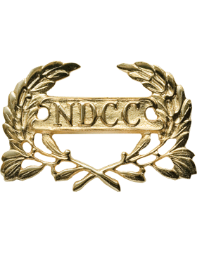 RC-405 Wreath with NDCC Letters In Panel (Screw Back)
