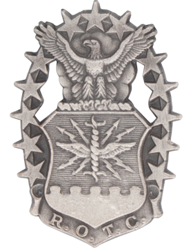 AFROTC Garrison Cap Device Mini Silver Ox