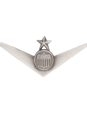 Air Force Senior ROTC Badge (RC-621/SO) Solo Pilot with Star Silver Ox