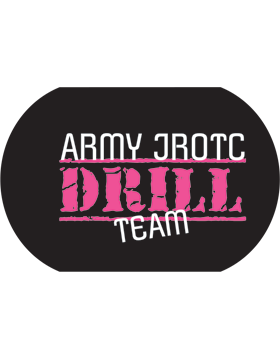 JROTC Drill Team Sublimation Dog Tag Pink
