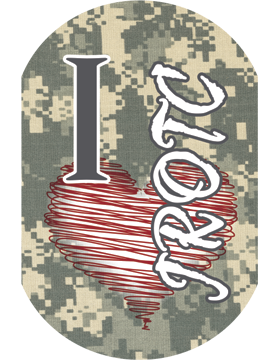 JROTC Sublimation Dog Tag on ACU