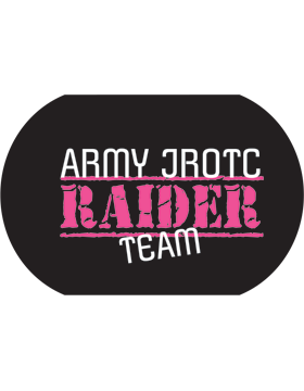 JROTC Raider Team Sublimation Dog Tag Pink