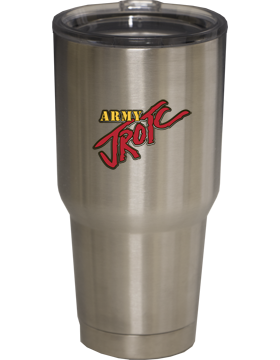 Stainless Insulated cup with lid, 30 oz - Army JROTC Sticker