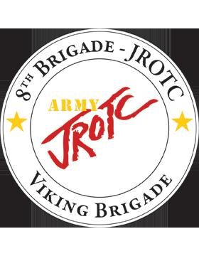 JROTC 8th Army Brigade Sticker