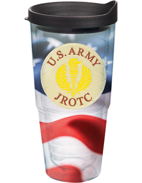 U.S. ARMY JROTC Tumbler with Torch and Wreath