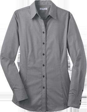 Red House® Ladies Mini-Check Non-Iron Button-Down Shirt RH67