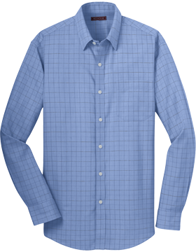 Red House® Windowpane Plaid Non-Iron Shirt RH70