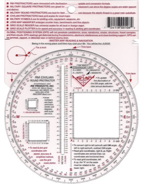 Civilian Round Protractor 5in Map Reading & Navigations #8