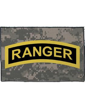 Ranger Tab on Camo Rug