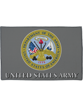 DOA Seal United States Army on Gray Rug