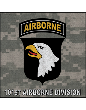 101st Airborne Division Patch on Digital Camo Rug