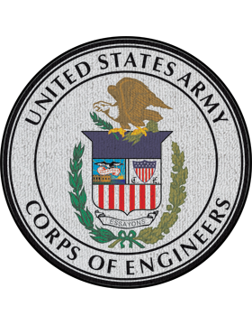 Corps of Engineers Seal on White Rug